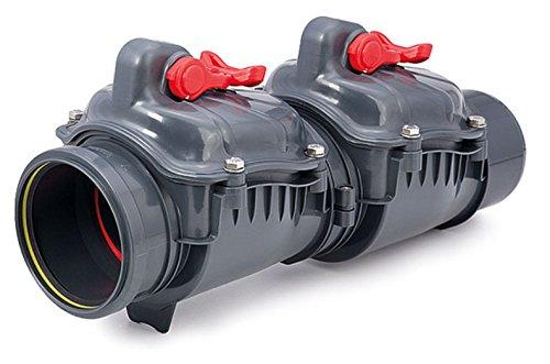 Scarico delle acque reflue di controllo di plastica Pvc non ritorno doppia patta valvola antiriflusso impedito 110 millimetri