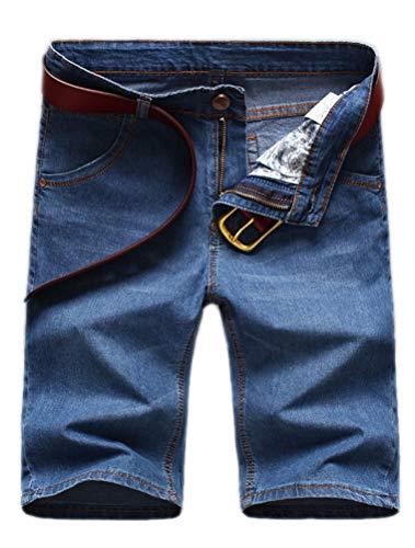 ROBO Shorts en Jeans Homme Casual Denim Pantalon Court Jeans Bermuda