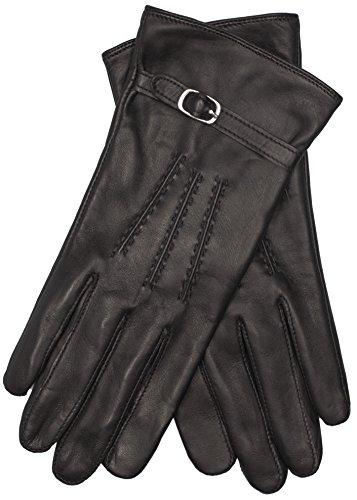 EEM Touchscreen Handschuhe LEA für Damen aus weichem Haarschafleder, smartphone gloves, schwarz L