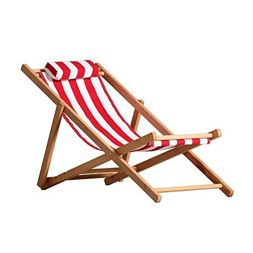 Ju fu lettino pieghevole reclinabile balcone esterno pausa pranzo sedia giardino prendi una fresca sedia da spiaggia sedia in legno massello sedia vecchia, strisce rosse e bianche, 2 stili piegare le