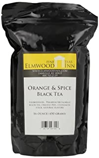 Elmwood Inn Fine Teas, Orange & Spice Black Tea, 16-Ounce Pouch