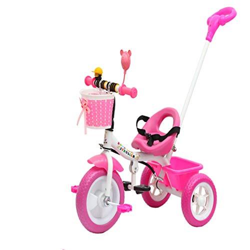 2 In 1 DreiräDer FüR 18 Monate, 6 Jahre, Kinder 3 Rad Kleinkind-Fahrrad Jungen MäDchen Mit 3 RäDer Sicherheitsgurt Glocke Falten Pedale Geschenk ()