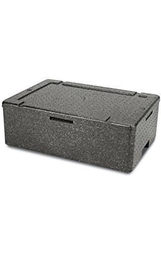 Thermobo Thermobehälter Styroporbox Styroporkiste Transportbox Warmhaltebox Kühlbox Isolierbox Pizzabox Lieferbox Gastrobox für Lieferdienste und Catering Aluschale