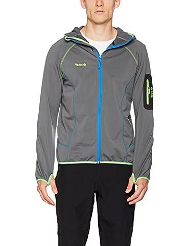 izas Tahoe–Men's Jacket, Orange/Royal Blue, Size