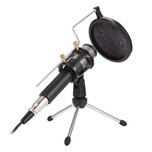 USB PC Mikrofon, NASUM, podcast mikrofon, für studio, Aufnahmen,Skype,YouTube, mit Ständer und Popschutz (Windows / Mac)