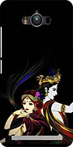 Dot Print Back Cover For Asus Zenfone Max Radhe Krishna printed case