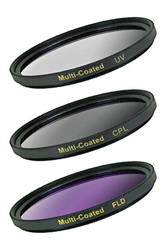 Digital Concepts DC-FK3-52 3 Piece Filter Kit, 52mm UV/CPL/FLD (Black)