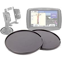 DURAGADGET Pack De Discos Base Para Cualquier Soporte De 7 Cm Navegador GPS Garmin Zümo 590 LM - ¡Contiene 2 Unidades!