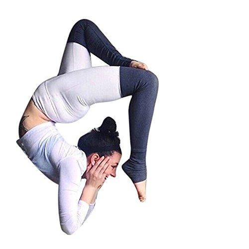 Pantalon de sport Ularmo Les femmes en cours de yoga Pantalons Fitness Gym Leggings exercice sport Pantalons Blanc