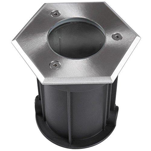 Jago Bodeneinbaustrahler einzeln oder als Set für Innen- und Außenbereich inkl. Montagematerial