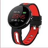 PINCHU Smart Uhren MC02 Smart Armband Schrittzähler IP68 Wasserdichte Sportuhr Wecker Für Männer und Frauen,Red