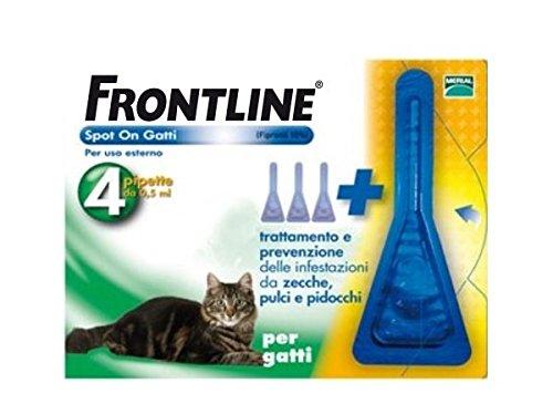 frontline-spot-on-gatto-4-pipette-antiparassitario-soluzione-spot-on-contro-zecche-pulci-e-pidocchi