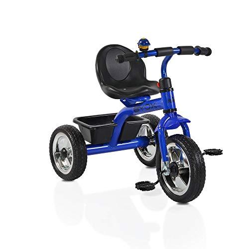 Byox Tricycle, Dreirad Raven, weichen Eva-Reifen Gepäckkorb hinten, ab 12 Monate, Farbe:blau