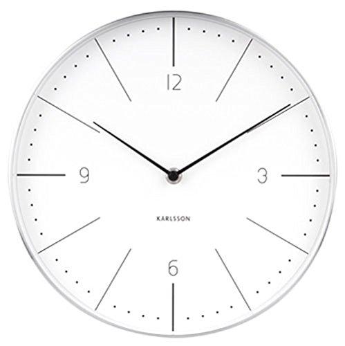 Karlsson Normann Uhr, Wanduhr, Stahl, Weiß, One Size