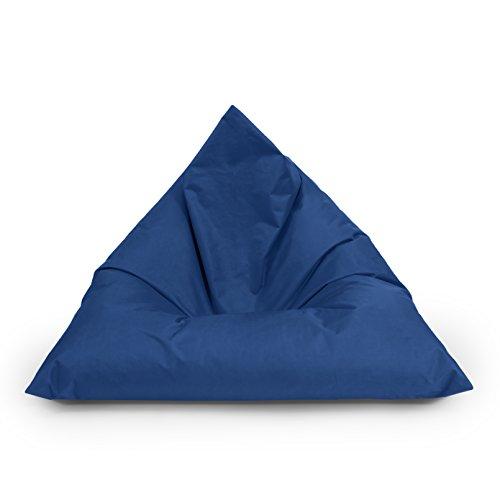 BuBiBag Sitzsack Dreieck Beanbag Sitzkissen für In & Outdoor 100x70x70cm bis 160x120x120cm mit...