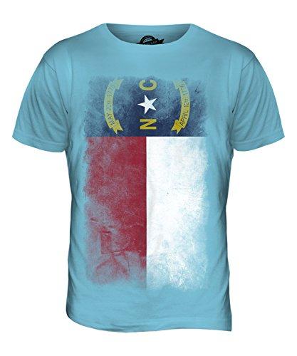 CandyMix Bundesstaat North Carolina Verblichen Flagge Herren T Shirt Himmelblau