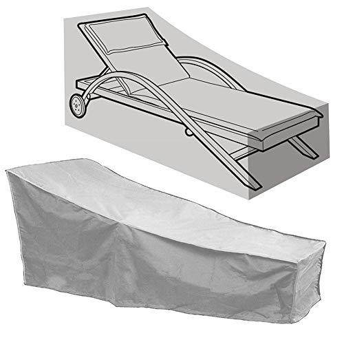 LLVV Patio-Sofa-Abdeckung, Universal-L-Form-Sofa-Abdeckungen imprägniern u. Staubdichte Möbel-im Freienaußenabdeckung 190T Polyester 208 * 76 * 41 / 79cm,Grau -