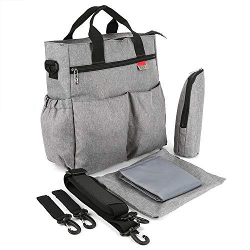 Descripción: Esta es una bolsa de pañales para bebés moderna y práctica. Hecho de material de poliéster de alta calidad, resistente, duradero y resistente al desgaste. Una variedad de uso, portátil, hombros dobles, cochecitos de bebé, fácil de viajar...