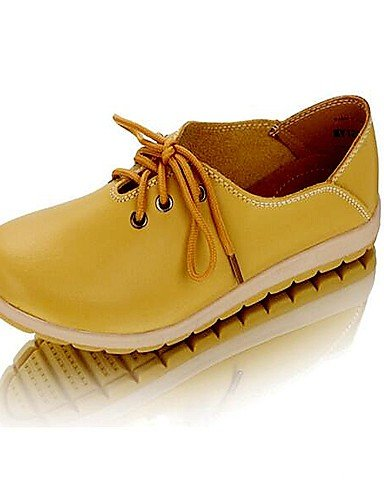 ZQ hug Scarpe Donna - Stringate - Tempo libero / Casual - Comoda - Piatto - Di pelle - Blu / Giallo / Arancione / Corallo , orange-us8.5 / eu39 / uk6.5 / cn40 , orange-us8.5 / eu39 / uk6.5 / cn40 coral-us5.5 / eu36 / uk3.5 / cn35