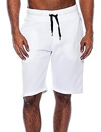 adbffcbf7757 Kurze Sporthose Herren - Mode Einfarbig Elastische Taille Hose mit Taschen Beiläufig  Sommer Shorts Sweatpants…