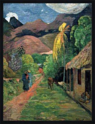 tableau-avec-cadre-paul-gauguin-road-into-the-mountains-70-x-92-bois-fortuna-l-noir-mate-de-soie