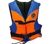 Flotabilidad ayuda estándar naranja/azul chaleco salvavidas para Jolle la vela, Esquí acuático, surf, piragüismo, kayak sin chaleco salvavidas EN395, 70-90kg