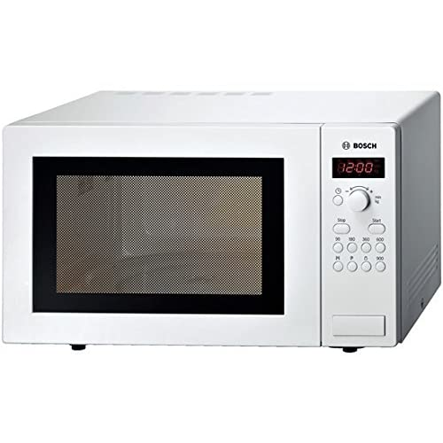 41mpmw2uocL. SS500  - Bosch Series 2 HMT84M421B White Freestanding Microwave with 900W, 25 litres Capacity, 5 Power Levels and LED Display