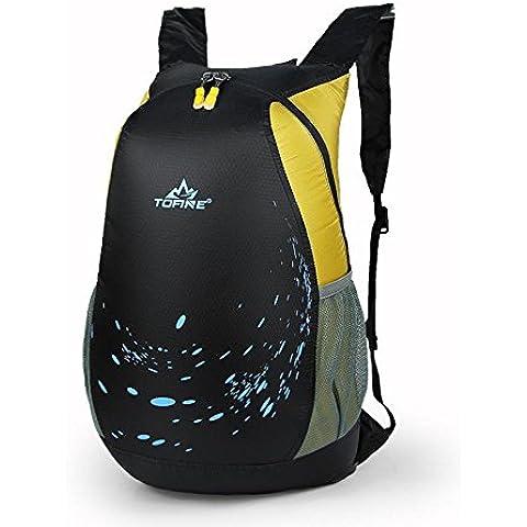 A new day-Ultra - leggera pelle pack borsa da spalle pieghevole zaino impermeabile all'aperto pacchetto viaggio escursionismo , yellow