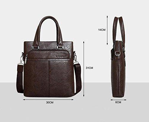 Beiläufige Art Und Weisemanngeschäftshandtaschenquerschnitt Aktenkofferbeutel-Schulterbeutel Kurierbeutel-Computerbeutel Black2