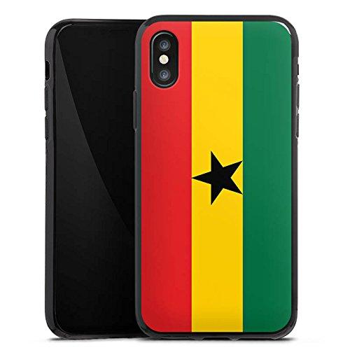 Apple iPhone 6 Silikon Hülle Case Schutzhülle Ghana Flagge Fußball Silikon Case schwarz