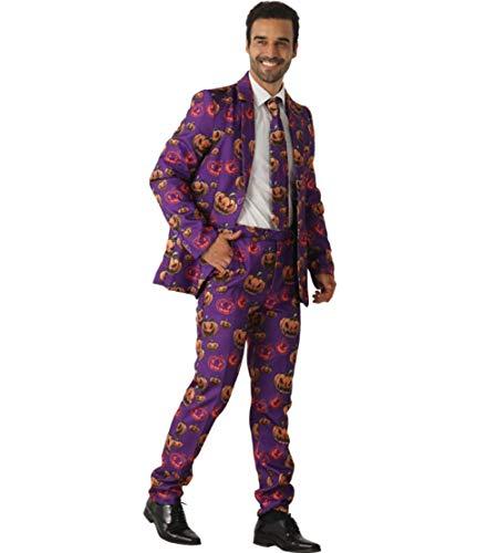 Mens Party Halloween Anzug Jacke Kostüm Mit Krawatte Jack O Lantern Print Man Smoking,M