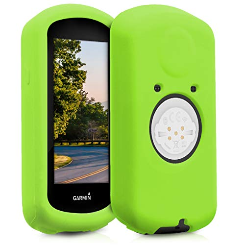 kwmobile Case voor Garmin Edge 1030 - Shell [Silicone] voor GPS - Cover voor Bicycle GPS in [Groen]