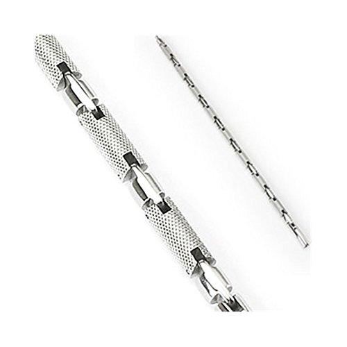 316L Edelstahl Armband texturiert Radzylinder