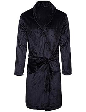 Pijama de hombre/terciopelo coral caliente Camisón/Thicken Albornoz Ropa de hogar