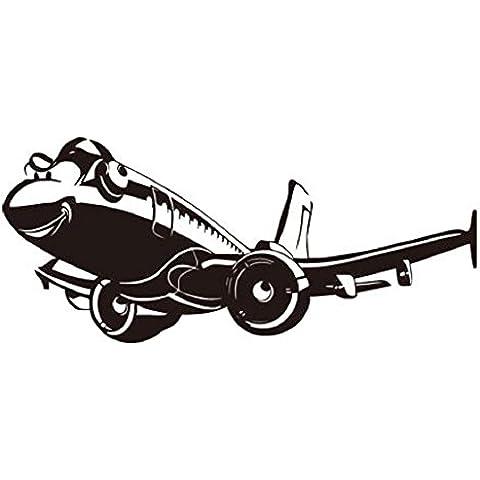 YYH Avión aeroplano sueño pegatinas niños salón de tatuajes de pared de PVC 8 (100 * 44cm)