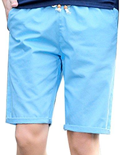 CUKKE Uomo Summer Casual Shorts Beach Board Shorts With Pocket Drawstring Blu