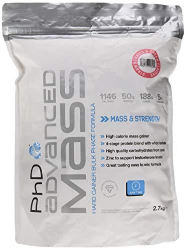 PhD Nutrition Advanced Mass 2.7 Kg Strawberries und Crème, 1 Stück -
