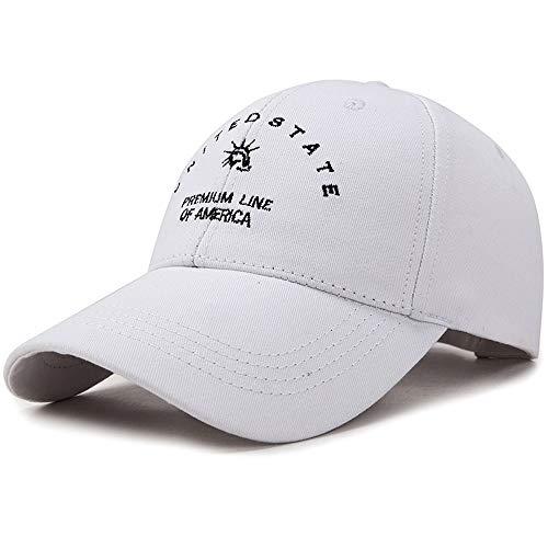 White Hat Caps Männer und Frauen Sommer koreanische Version Baseballmütze Hipster Wild Duck Tongue Cap Freizeit Sonnencreme Sun Cap Shade atmungsaktive Kappe schwarz rosa Snapback Mountr