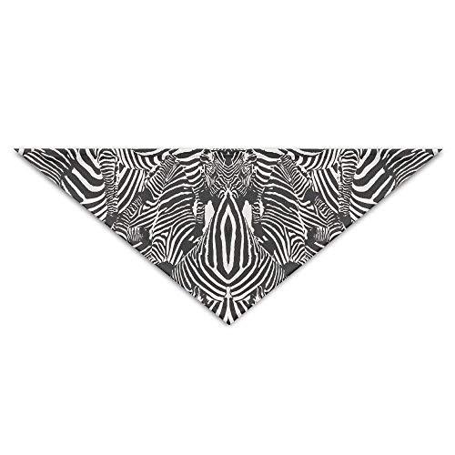Rghkjlp Zebra-Druck-Baby-Haustier-Dreieck-Kopftücher-Hundeschalwelpen-Dreieck -