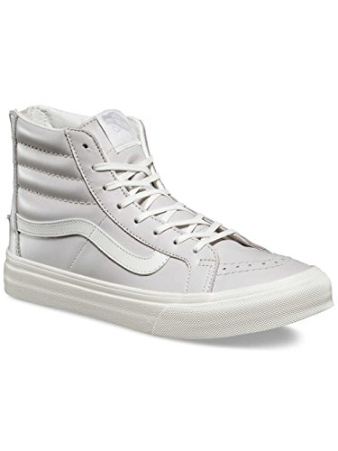 Vans UA Sk8-Hi Slim Zip, Scarpe da Ginnastica Alte Donna (leather) wind chime/blan