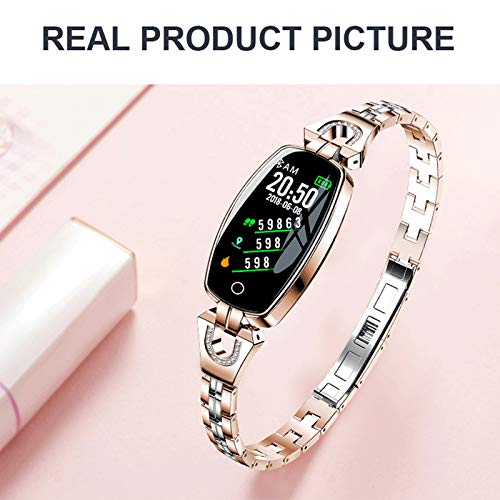Imagen de reloj inteligente,h8 actividad fitness tracker pantalla en color reloj pulsera con prueba de ritmo cardíaco, reloj bluetooth impermeable step tracker pulsera deportiva monitoreo del sueño, etc. alternativa