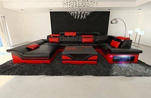 Mega Intérieur de la maison ENZO forme U avec LED NOIR - Rouge