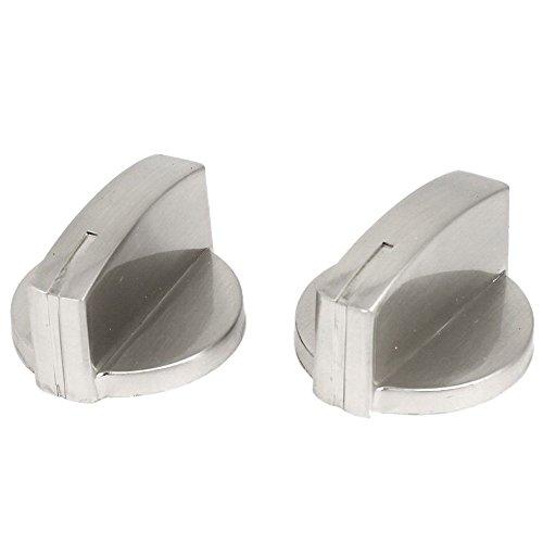 Range-schalter Herd (TOOGOO(R) 2x Metall Schalter Backofen Kochfeld Gasherd-Knoepfe Silber)