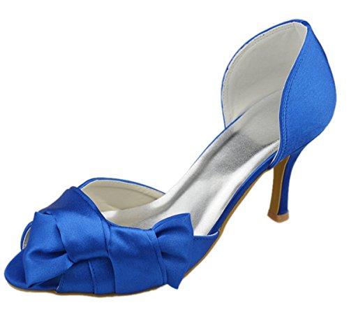 Minitoo ,  Damen Peep Toes Blau