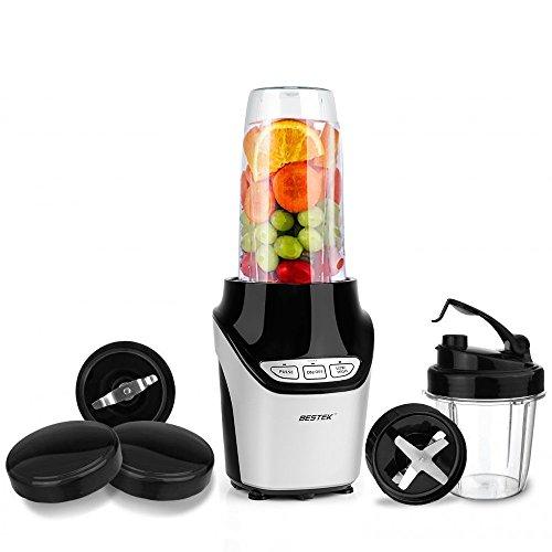BESTEK Blender Mixeur Machine à Smoothie Blender Moulin Multifonctionnel 1000W