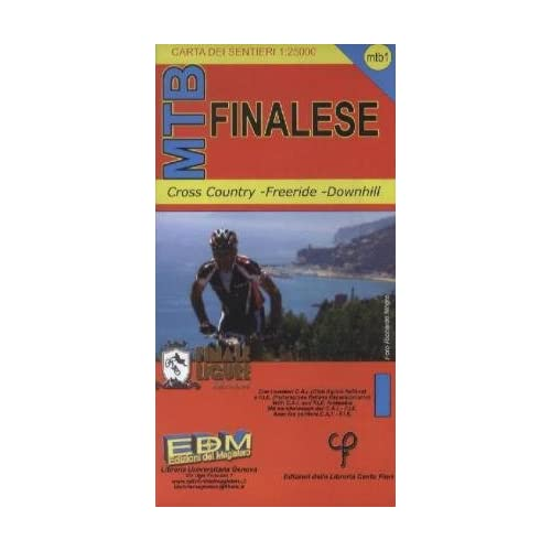 Mtb-1 Finalese. Carte Dei Sentieri Di Liguria Per Mountain Bike Mtb Vtt