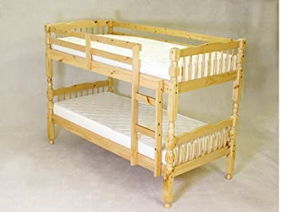 Rio Verona Pine Wood 3Ft Bunk Bed Converts To Single Beds by Humza Amani - cheap UK light shop.