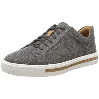Clarks Damen Un Maui Lace Sneaker, Grau Grey Textile, 42 EU
