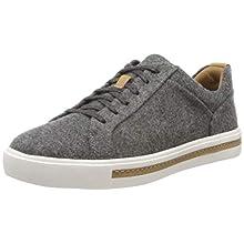 Clarks Women's Un Maui Lace Low-Top Sneakers, Grey (Grey Textile Grey Textile), 5 UK