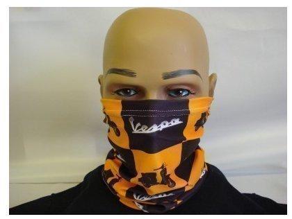 masque-cache-cou-a-motif-vespa-noir-et-orange